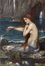 A Mermaid | Waterhouse | veraltet