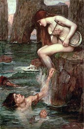 The Siren, 1900 by Waterhouse | Painting Reproduction