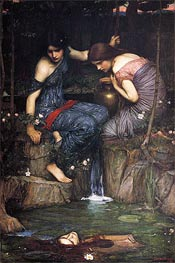 Nymphs finding the Head of Orpheus | Waterhouse | veraltet