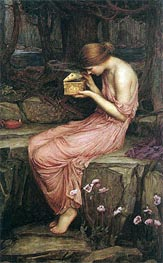 Psyche Opening the Golden Box | Waterhouse | Painting Reproduction