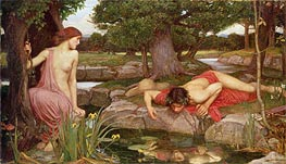 Echo and Narcissus | Waterhouse | Painting Reproduction