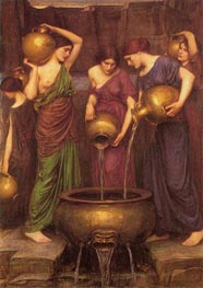 The Danaides, 1904 by Waterhouse | Painting Reproduction