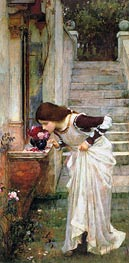 The Shrine, 1895 von Waterhouse | Gemälde-Reproduktion