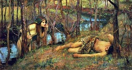 A Naiad, 1893 by Waterhouse | Painting Reproduction