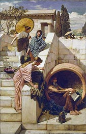 Diogenes, 1882 by Waterhouse | Painting Reproduction