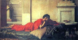 The Remorse of Nero after the Murder of his Mother, 1878 von Waterhouse | Gemälde-Reproduktion