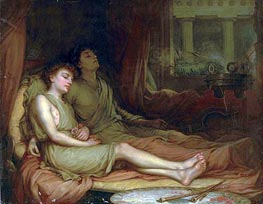 Sleep and his Half Brother Death, 1874 by Waterhouse | Painting Reproduction