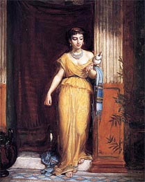 La Fileuse, 1874 by Waterhouse   Painting Reproduction