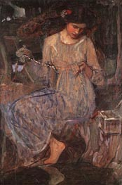The Necklace (Study), c.1909 by Waterhouse | Painting Reproduction