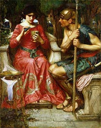 Jason and Medea, Undated von Waterhouse | Gemälde-Reproduktion