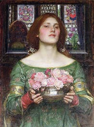 Gather Ye Rosebuds While Ye May, 1908 by Waterhouse | Painting Reproduction