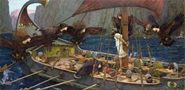 Ulysses and the Sirens, 1891 by Waterhouse | Painting Reproduction