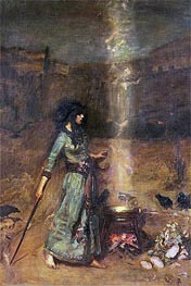 The Magic Circle, Undated by Waterhouse | Painting Reproduction