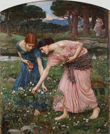 Gather ye Rosebuds while ye may, 1909 by Waterhouse | Painting Reproduction