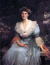 Lady Violet Henderson, 1907 by Waterhouse | Painting Reproduction