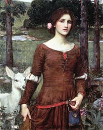 The Lady Clare, 1900 by Waterhouse | Painting Reproduction