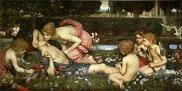 The Awakening of Adonis, 1899 by Waterhouse | Painting Reproduction