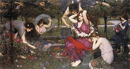 Flora and the Zephyrs, 1897 by Waterhouse | Painting Reproduction