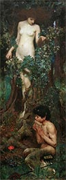 A Hamadryad, 1893 by Waterhouse   Painting Reproduction