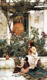 The Toilet (At Capri), 1889 by Waterhouse | Painting Reproduction