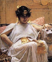 Cleopatra, 1888 by Waterhouse | Painting Reproduction