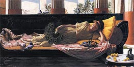 Dolce Far Niente, 1880 by Waterhouse | Painting Reproduction