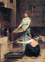 The Household Gods, 1880 by Waterhouse | Painting Reproduction