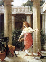 In the Peristyle, 1874 by Waterhouse | Painting Reproduction