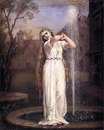 Undine, 1872 by Waterhouse | Painting Reproduction