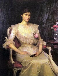 Miss Margaret Henderson, 1900 by Waterhouse | Painting Reproduction