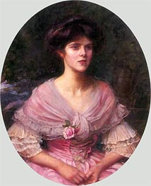 Mrs A. P. Henderson, 1908 by Waterhouse | Painting Reproduction