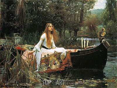 The Lady of Shalott, 1888 | Waterhouse | Gemälde Reproduktion