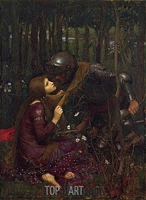 La Belle Dame Sans Merci, 1893 | Waterhouse | Gemälde Reproduktion