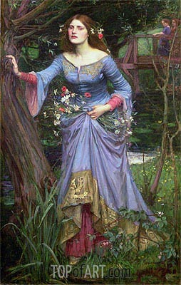 Ophelia, 1910 | Waterhouse| Painting Reproduction