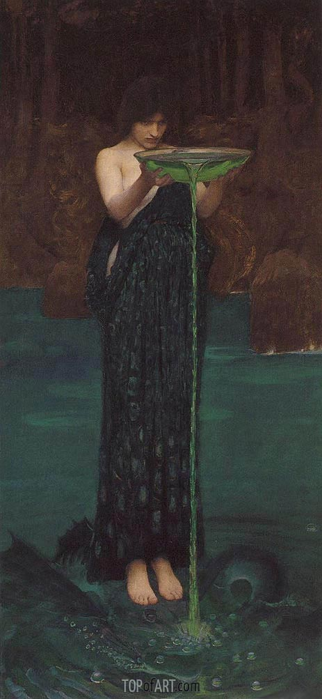 Circe Invidiosa, 1892 | Waterhouse | Painting Reproduction