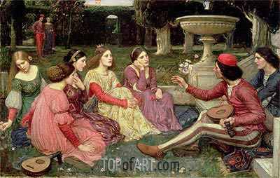 A Tale from the Decameron, 1916 | Waterhouse | Painting Reproduction