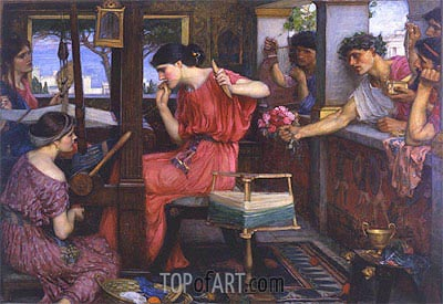 Waterhouse | Penelope and the Suitors, 1912