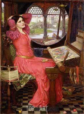 'I am Half Sick of Shadows' Said the Lady of Shalott, 1916 | Waterhouse| Painting Reproduction