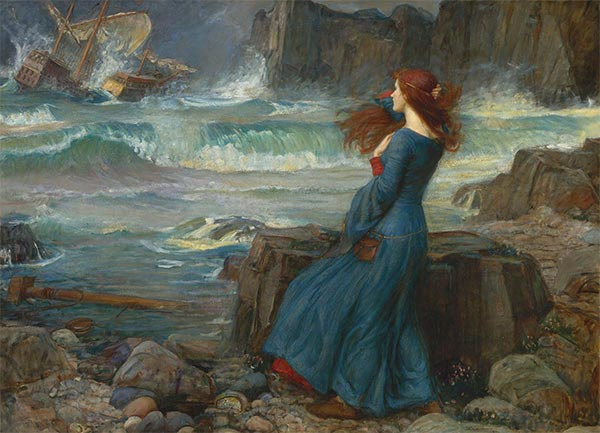 Miranda - The Tempest, 1916 | Waterhouse | Painting Reproduction