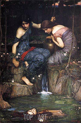 Nymphs finding the Head of Orpheus, 1900 | Waterhouse| Painting Reproduction