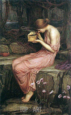 Psyche Opening the Golden Box, 1903 | Waterhouse| Gemälde Reproduktion