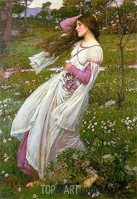 Windflowers, 1902 | Waterhouse| Painting Reproduction