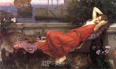 Ariadne, 1898 | Waterhouse| Painting Reproduction