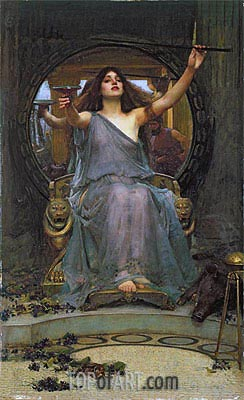 Circe Offering the Cup to Ulysses, 1891 | Waterhouse | Painting Reproduction