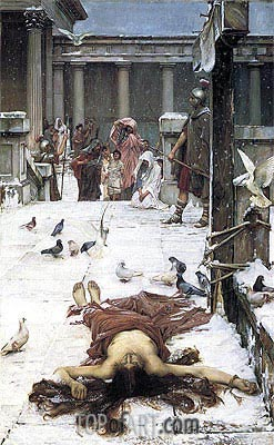 Saint Eulalia, 1885 | Waterhouse| Painting Reproduction