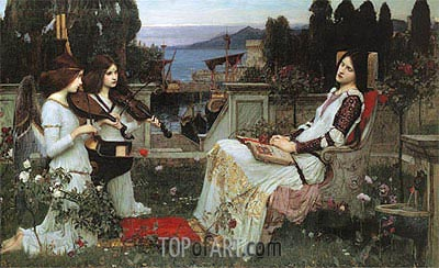 Saint Cecilia, 1895 | Waterhouse | Gemälde Reproduktion