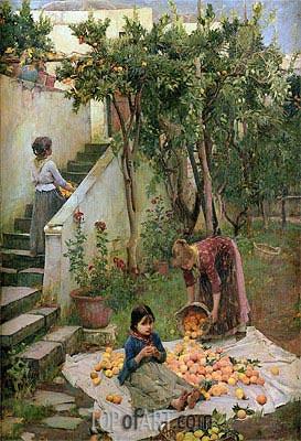 Waterhouse | The Orange Gatherers, 1890