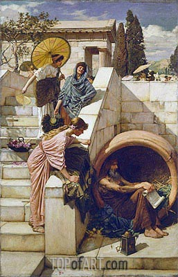 Diogenes, 1882 | Waterhouse| Painting Reproduction