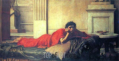 The Remorse of Nero after the Murder of his Mother, 1878 | Waterhouse | Painting Reproduction