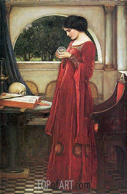 The Crystal Ball, 1902 | Waterhouse | Painting Reproduction